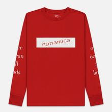 Мужской лонгслив Nanamica Nanamican Graphic Red фото- 0