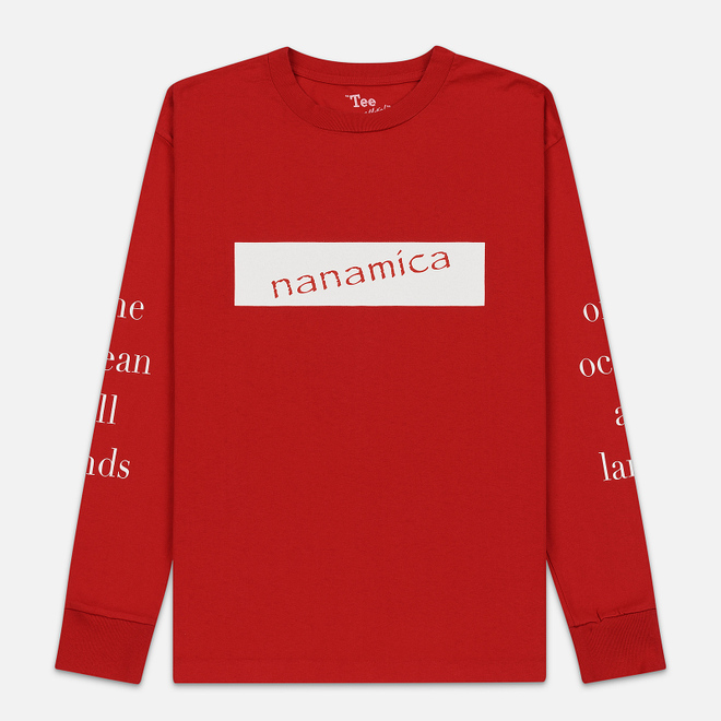 Мужской лонгслив Nanamica Nanamican Graphic Red