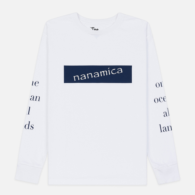Мужской лонгслив Nanamica Nanamican Graphic White