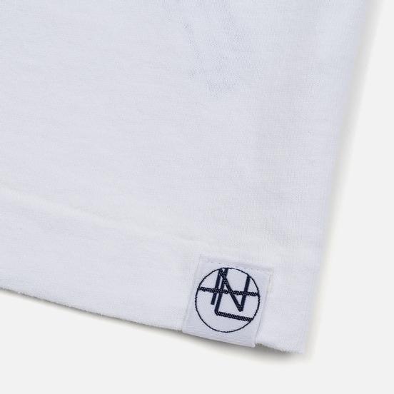 Мужской лонгслив Nanamica Nanamican Graphic White