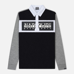 Мужской лонгслив Napapijri Emei Multicolour Black/Grey/White фото- 0