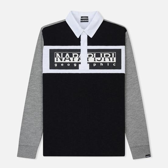 Мужской лонгслив Napapijri Emei Multicolour Black/Grey/White