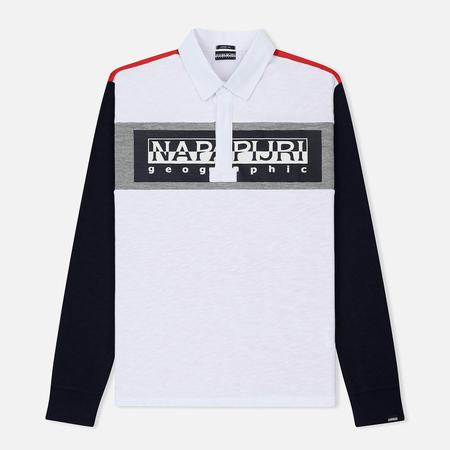Мужской лонгслив Napapijri Emei Multicolour White/Navy/Grey
