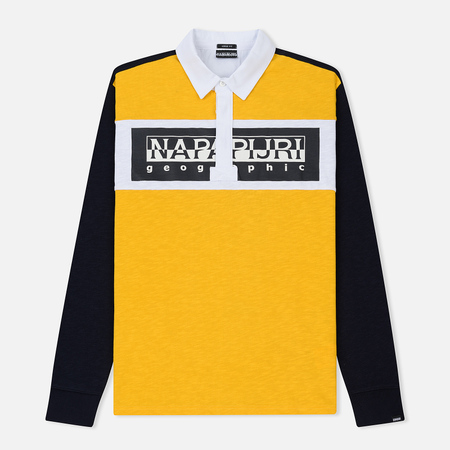 Мужской лонгслив Napapijri Emei Multicolour Yellow/Black/White