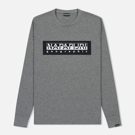 Мужской лонгслив Napapijri Sele Medium Grey Melange