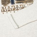 Мужской лонгслив Napapijri Swell White Melange фото- 3
