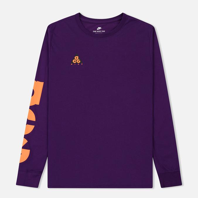 Мужской лонгслив Nike ACG 2 Cultur Night Purple/Bright Mandarin
