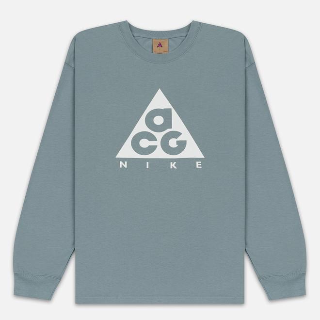 Мужской лонгслив Nike ACG LS Logo Aviator Grey/Summit White