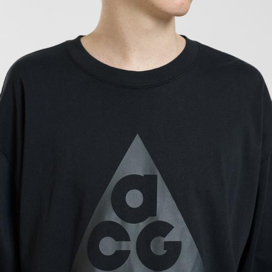 Мужской лонгслив Nike ACG LS Logo Black/Anthracite
