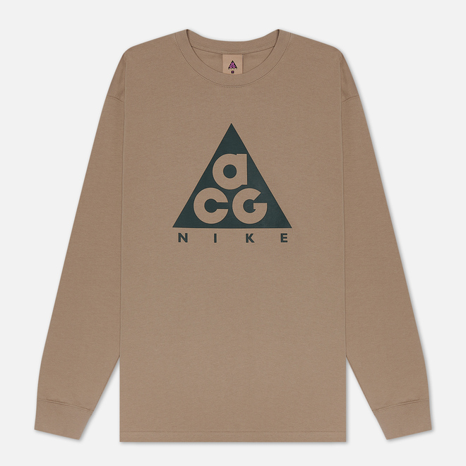 Мужской лонгслив Nike ACG LS Logo Khaki/Cargo Khaki