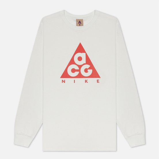 Мужской лонгслив Nike ACG LS Logo Summit White/Habanero Red