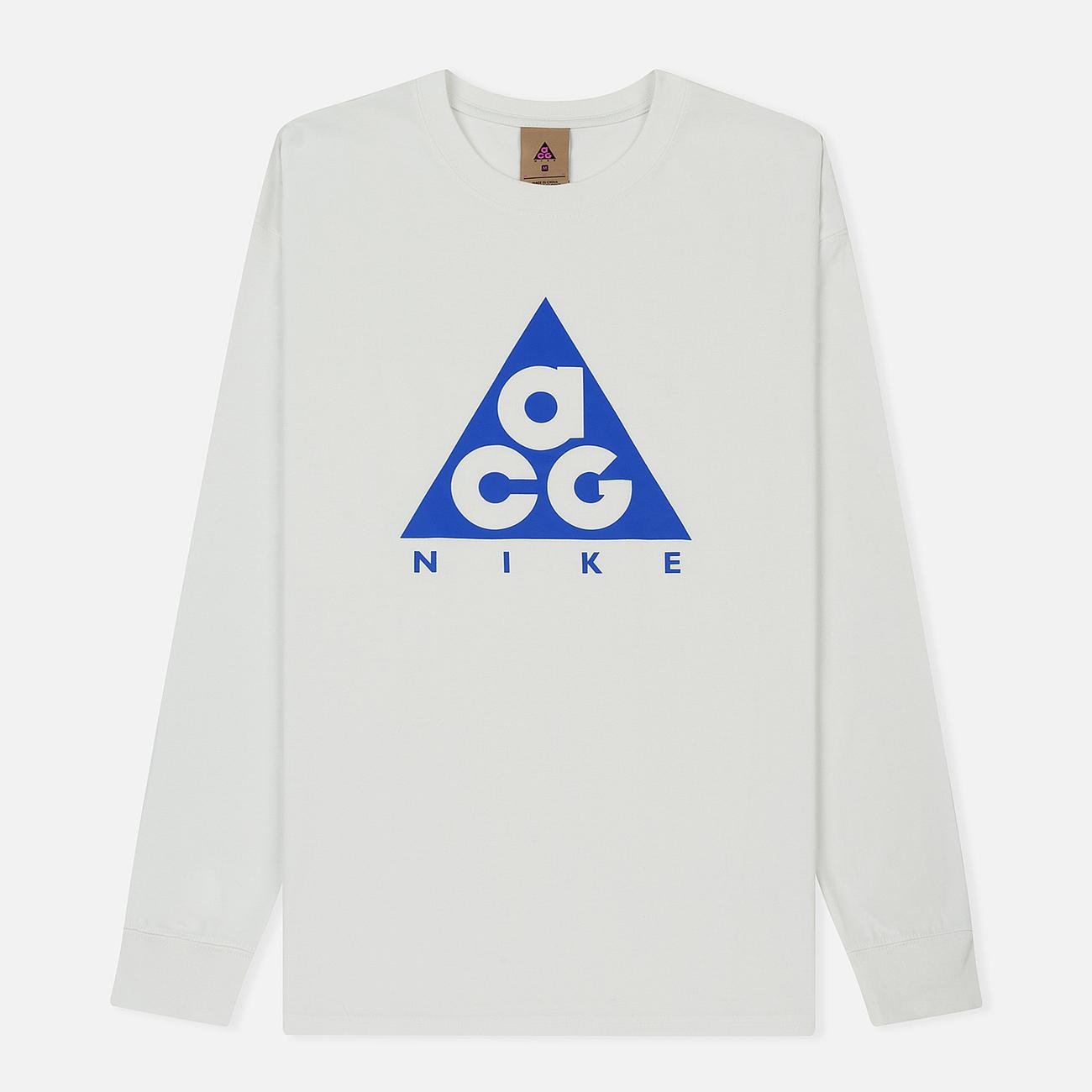 Мужской лонгслив Nike ACG LS Logo Summit White/Racer Blue