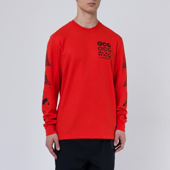 Мужской лонгслив Nike ACG NRG Waffle Habanero Red