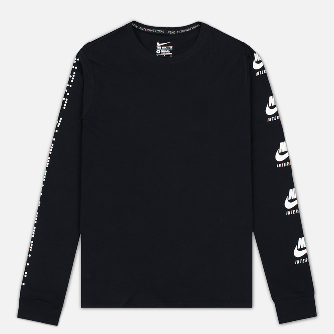 Мужской лонгслив Nike Internationalist Black/White