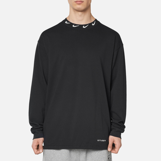 Мужской лонгслив Nike x Stussy NRG LS Knit Black