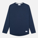 Мужской лонгслив Norse Projects Aske Perforated LS Navy фото- 0