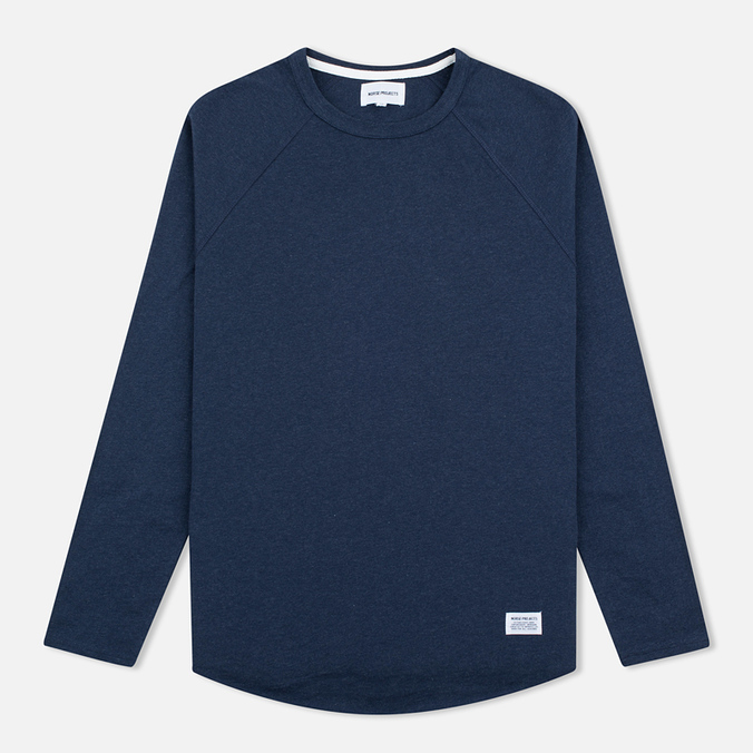 Мужской лонгслив Norse Projects Aske Perforated LS Navy