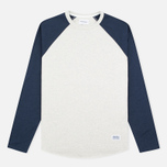 Мужской лонгслив Norse Projects Aske Perforated LS Navy/Ecru фото- 0