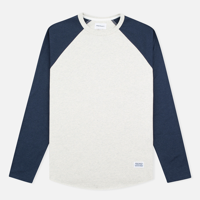 Мужской лонгслив Norse Projects Aske Perforated LS Navy/Ecru