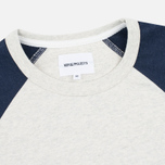 Мужской лонгслив Norse Projects Aske Perforated LS Navy/Ecru фото- 1