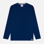 Мужской лонгслив Norse Projects Esben Blind Stitch LS Compound Blue фото- 0