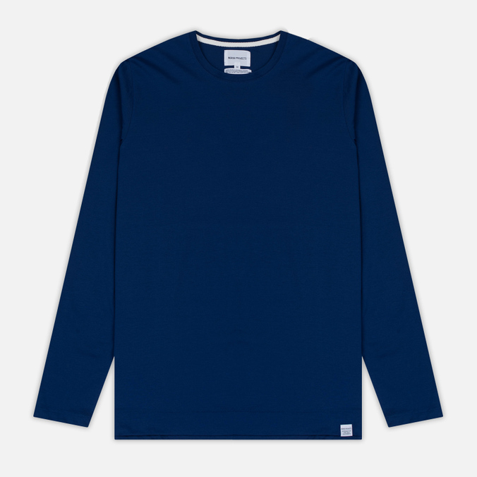 Мужской лонгслив Norse Projects Esben Blind Stitch LS Compound Blue