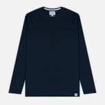 Мужской лонгслив Norse Projects Esben Blind Stitch LS Navy фото- 0