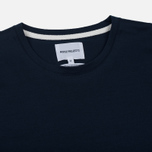Мужской лонгслив Norse Projects Esben Blind Stitch LS Navy фото- 1