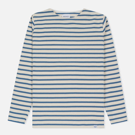 Мужской лонгслив Norse Projects Godtfred Classic Compact Ecru/Marginal Blue
