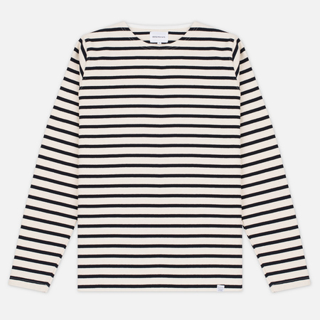 Мужской лонгслив Norse Projects Godtfred Classic Compact Ecru/Navy