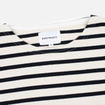 Мужской лонгслив Norse Projects Godtfred Classic Compact Ecru/Navy фото- 1