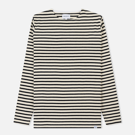 Мужской лонгслив Norse Projects Godtfred Classic Compact Ecru Stripe
