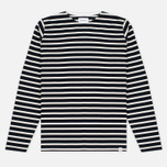 Norse Projects Godtfred Classic Compact Men's Longsleeve Navy/Ecru photo- 0