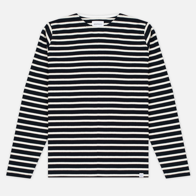 Norse Projects Godtfred Classic Compact Men's Longsleeve Navy/Ecru