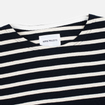 Norse Projects Godtfred Classic Compact Men's Longsleeve Navy/Ecru photo- 1