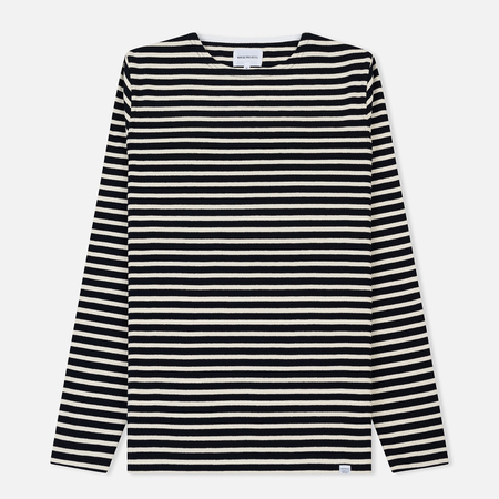 Мужской лонгслив Norse Projects Godtfred Classic Compact Navy Stripe