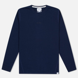 Мужской лонгслив Norse Projects James Dry Cotton LS Principle Blue фото- 0
