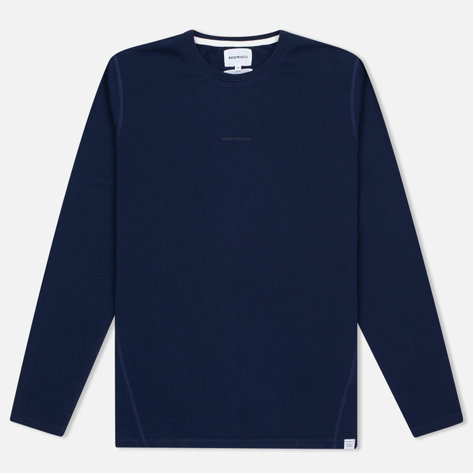 Мужской лонгслив Norse Projects James Dry Cotton LS Principle Blue