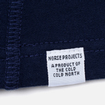 Мужской лонгслив Norse Projects James Dry Cotton LS Principle Blue фото- 4