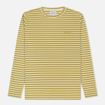 Мужской лонгслив Norse Projects James Logo Stripe LS White/Edge Yellow фото- 0