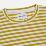Мужской лонгслив Norse Projects James Logo Stripe LS White/Edge Yellow фото- 1