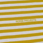Мужской лонгслив Norse Projects James Logo Stripe LS White/Edge Yellow фото- 2