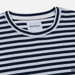 Мужской лонгслив Norse Projects James Logo Stripe LS White/Navy фото- 1