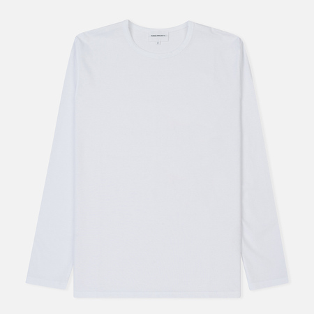 Мужской лонгслив Norse Projects Jesper Mercerized White