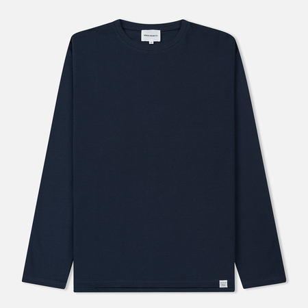 Мужской лонгслив Norse Projects Johannes Organic Navy