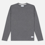 Мужской лонгслив Norse Projects Niels Basic Charcoal Melange фото- 0