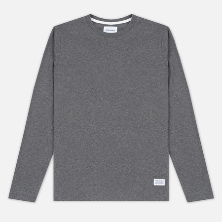 Мужской лонгслив Norse Projects Niels Basic Charcoal Melange