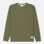 Мужской лонгслив Norse Projects Niels Basic Dried Olive фото- 0