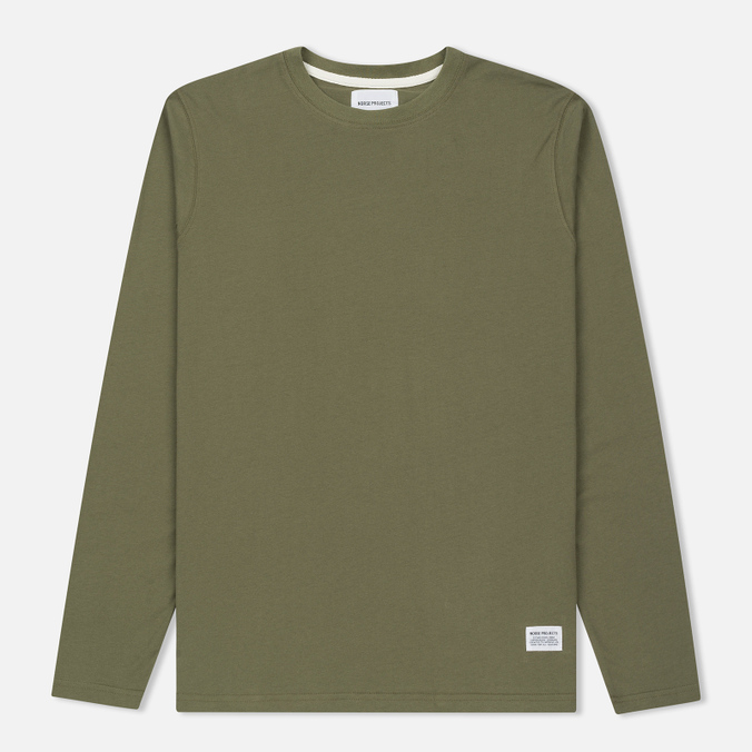 Мужской лонгслив Norse Projects Niels Basic Dried Olive