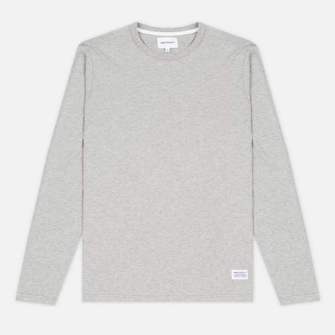 Мужской лонгслив Norse Projects Niels Basic Light Grey Melange